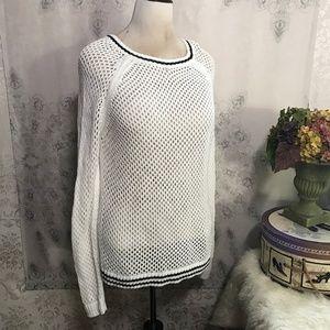 Forever 21 Womens Plus Fishnet Sweater 1X Boat  🐝